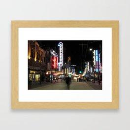 Granville Street Vancouver Midnight Framed Art Print