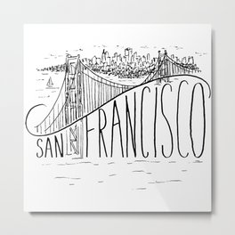 San Francisco Golden Gate Swoop Metal Print