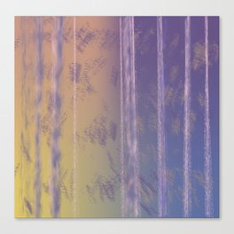 Abstract Yellow and Purple Canvas Print