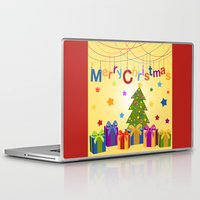 merry christmas Laptop & iPad Skins featuring Merry Christmas by itsme.emi