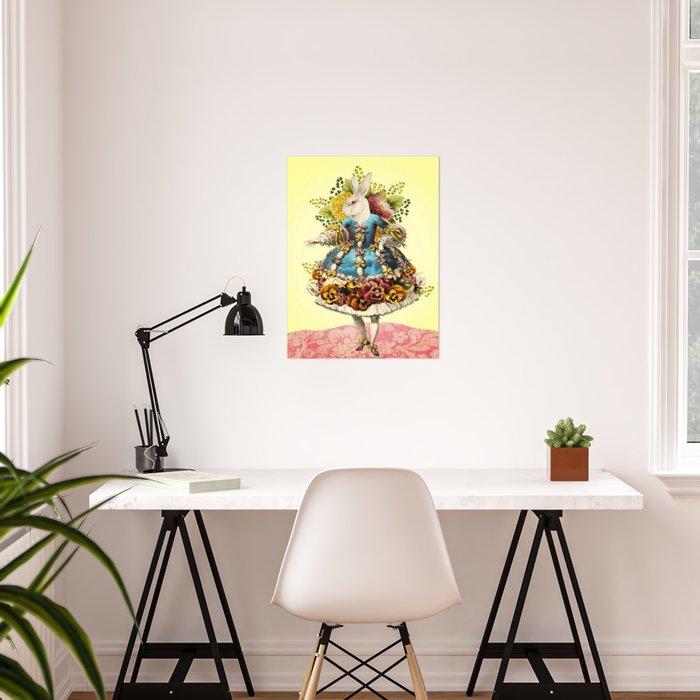 Elegant Rabbit Poster