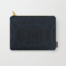Dark blue leather texture abstract Carry-All Pouch