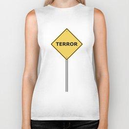 Terror Warning Sign Biker Tank