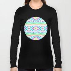 Aztec Geometric Print - Pastel bright colours Long Sleeve T-shirt