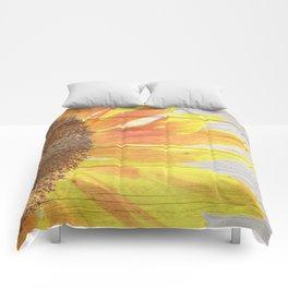 Sunflower on Wood Comforters