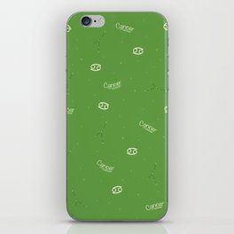 Cancer Pattern - Green iPhone Skin