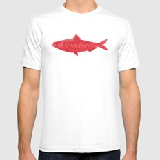 Swedish Fish White X-LARGE Mens Fitted Tee