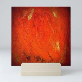 Rustic Orange Painted Stucco - Corbin Henry Mini Art Print