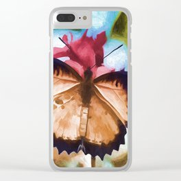Beautiful Monarch Butterfly Clear iPhone Case