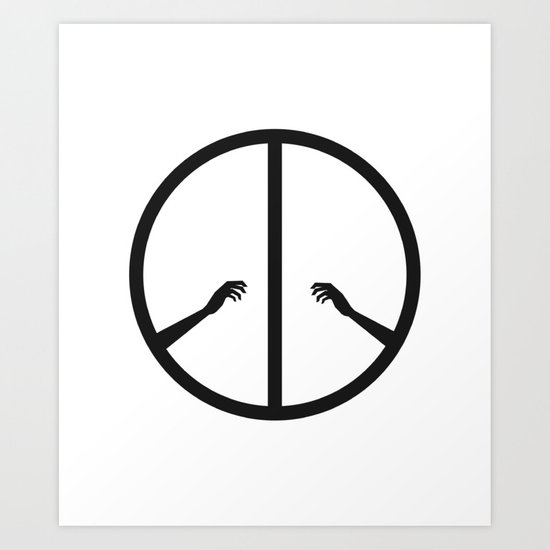Peace struggle Art Print