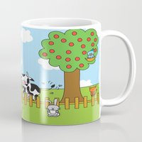 farm Mugs featuring Farm by oekie