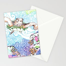 Scuba in Belize Color Stationery Cards