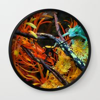chameleon Wall Clocks featuring Chameleon by Geni