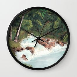 Woodland Waterfall Wall Clock