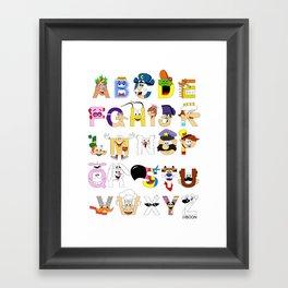 Breakfast Mascot Alphabet Framed Art Print