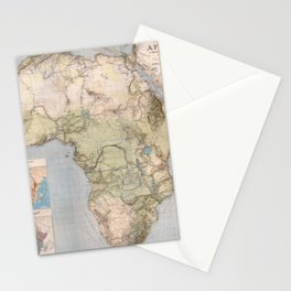 1885 Vintage Map of Africa Stationery Cards