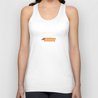 hot dog Tank Tops featuring Hot Dog by Freakin' Monsters