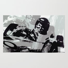 Vintage German 1967 Racing Car Poster Rug