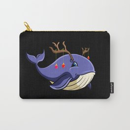 Christmas Whale with antlers Carry-All Pouch