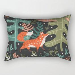 Evergreen Fox Tale Rectangular Pillow