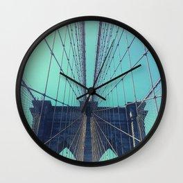 BROOKLYN BRIDGE - VINTAGE - FADED Wall Clock