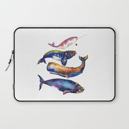 Whale Pyramid #4 - Watercolor Whales Laptop Sleeve