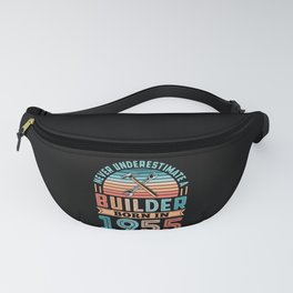 Builder born in 1955 70th Birthday Gift Building Fanny Pack
