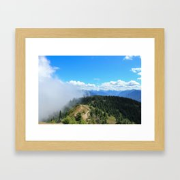 Colliding Framed Art Print