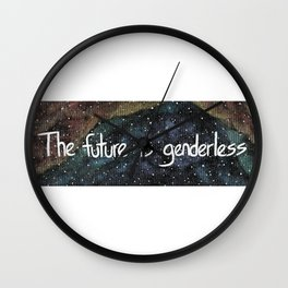 The Future is Genderless Wall Clock