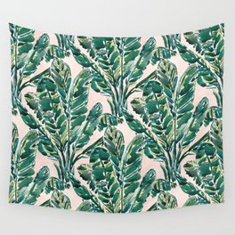 BIG FEELINGS Banana Leaf Tropical Wall Tapestry