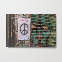 Peace to go - Brick Lane Metal Print