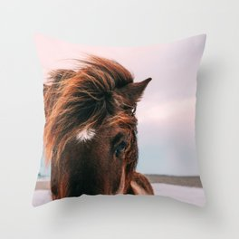 Horse #sunset Throw Pillow