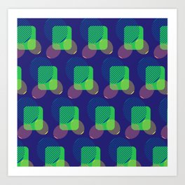 pattern circulos Art Print