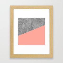 Coral Pink Concrete Framed Art Print