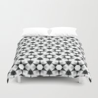 metallic Duvet Covers featuring metallic by clemm