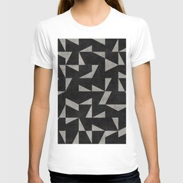 Mid-Century Modern Pattern No.12 - Black and Gray Concrete T-shirt