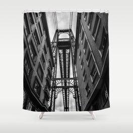 Portugalete suspension bridge Shower Curtain