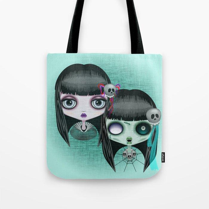 Zombie Doll The Dark Side Tote Bag