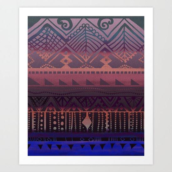 Tribal Paradise Art Print