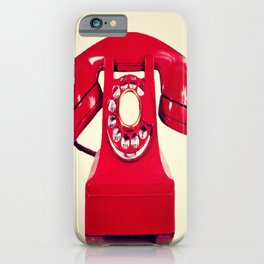 Red phone iPhone Case