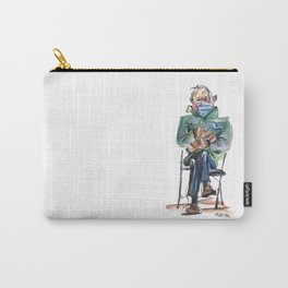 Bernie Sitting - watercolor drawing Carry-All Pouch