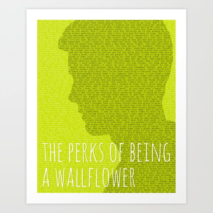 The Perks of Being a Wallflower Art Print by justified   Society6