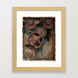 Gear mechanism Framed Art Print