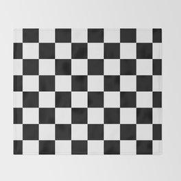 Black & White Checkered Pattern Throw Blanket