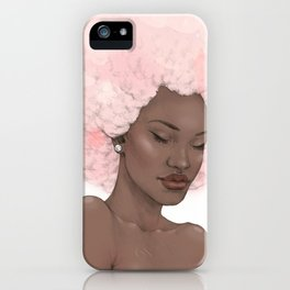 Pink Fro iPhone Case