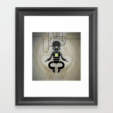 Deus ex machina Framed Art Print