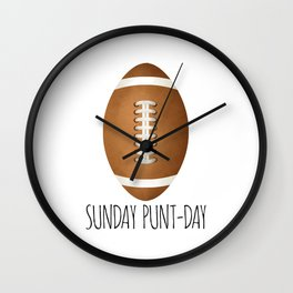 Sunday Punt-day Wall Clock