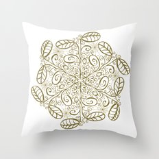 Ornato en sepia Throw Pillow