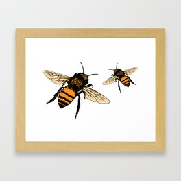 Just Bees! Framed Art Print
