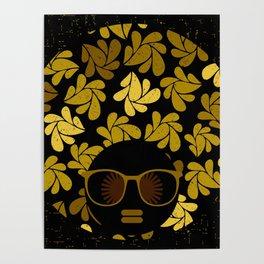 Afro Diva : Gold Poster